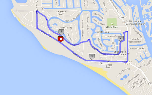 The Inn at Siesta Key (Short) – Local Run Route