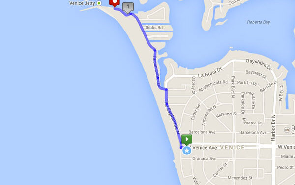 Inn at the Beach (Venice)(Short) – Local Run Route